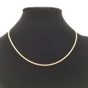 Napier Gold Snake Chain Necklace
